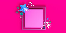 Square Frame With Christmas Ob...