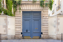 Paris, An Old Wooden Door In T...