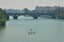 Piragüistas En El Río Guadal...