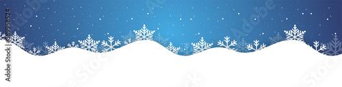 sfondo, alberello, neve, fiocchi di neve, nevicata, natale, inverno Fototapeta