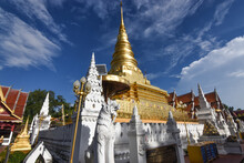 The Golden Stupa In Lanna Arch...