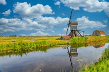 Dutch Polder Landscape With Wa...