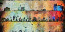 Abstract Painting Of New York ...