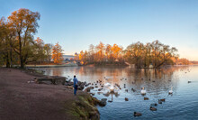 Panoramic Autumn View Of The M...