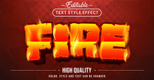 Editable Text Style Effect - Fire Theme Style.