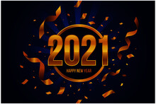 Realistic Golden New Year 2021...