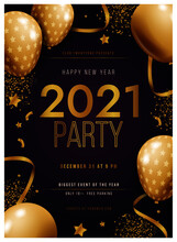New Year 2021 Party Poster Tem...