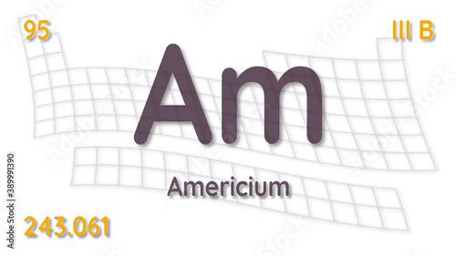 Photo Americium chemical element  physics and chemistry illustration b