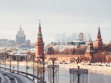 Panorama View On Kremlin, Skys...
