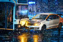 Traffic Accident During Snowst...
