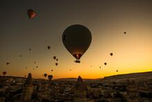 Stunning Shot Of Hot Air Ballo...