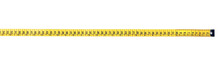 Long Yellow Measuring Tape Isolated On White, Top View