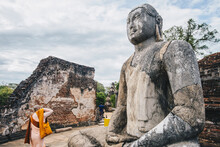The Ancient Stone Buddha On Th...