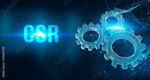 CSR abbreviation, modern technology concept Wallpaper Mural