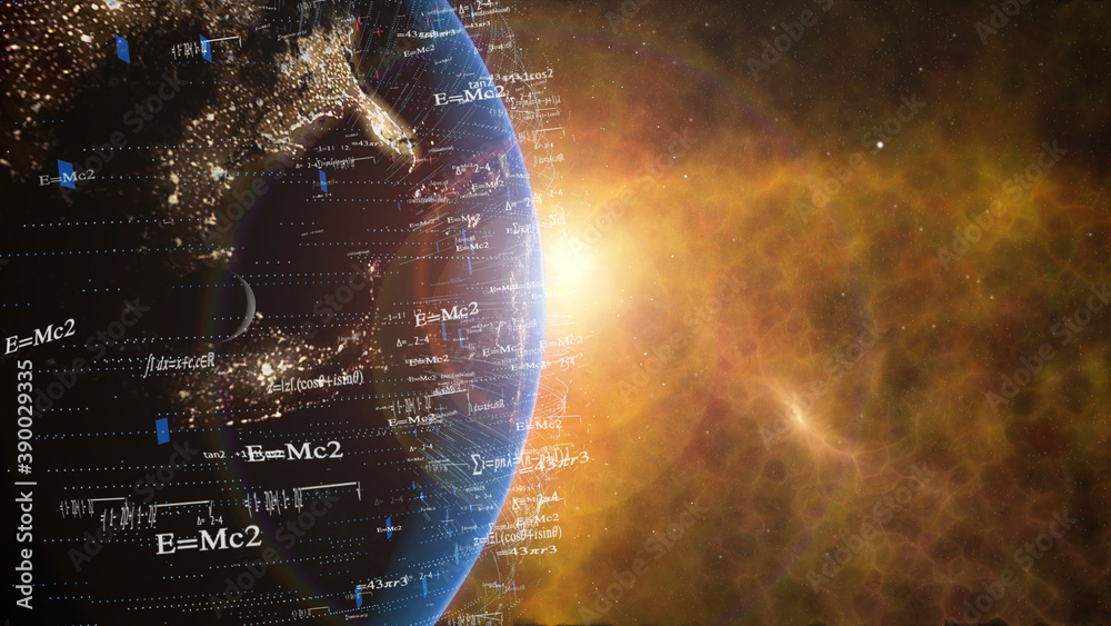 Fototapeta Earth Math and Science quotes