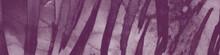 Purple Hand Print Pattern. Animal Zoo. Water