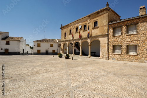 Slika na platnu Infante Don Juan Manuel square, Alarcon, Cuenca province, La Mancha, Spain