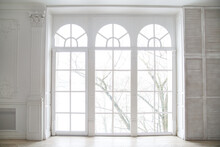 Arched Windows In A Chic Hall.
