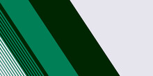 Abstract Dark Green White Presentation Background With Geometric Diagonal Line Elements