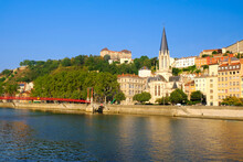View Of Saone River Embankment...