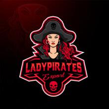 Lady Pirates Mascot Gaming Logo Design