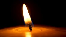 Flame Of Candlelight Moving An...