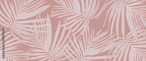 Fotomural Luxury Gold palm leaves wallpaper