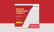 Digital marketing instagram post or social media feed template
