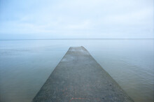 Concrete Breakwater. Playgroun...