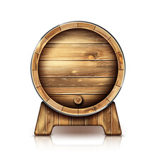 Vector Wooden Barrel For Wine ...