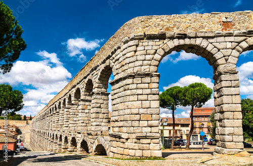 Fotografie, Obraz Ancient roman aqueduct of Segovia in Castile and Leon, Spain