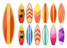 Surfboard Vector Design Illustration Isolated On White Background