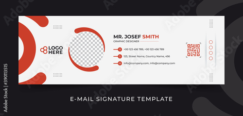 Obraz Modern corporate email signature vector template - fototapety do salonu