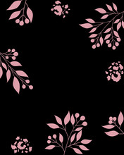 Abstract Backgrounds Leopard Spots Flowers Poster Postcard Vector Illustration