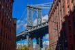 Manhattan Bridge seen from Dumbo on sunny day