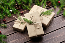 Christmas Gift Boxes With Fir ...