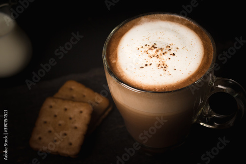 Tela cup of cappuccino