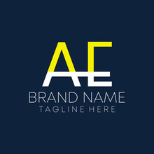 Letter Ae Real Estate Logo Design Vector In Eps 10