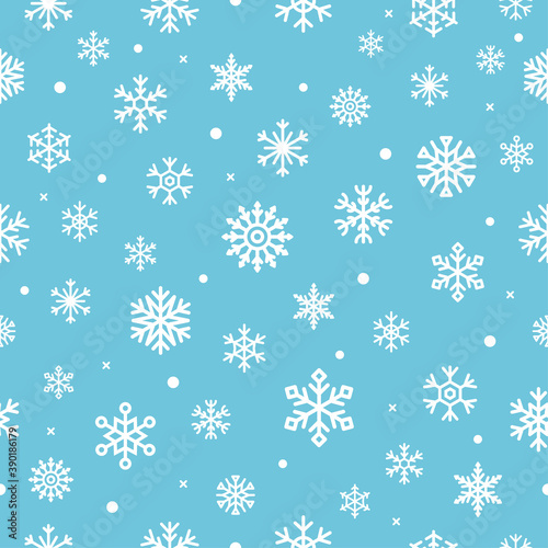 Fotografía Christmas seamless patern with snowflakes. Vector illustration