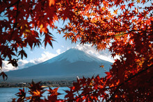 Scenic View Of Mount Fuji With...