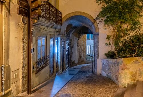 Coimbra, Arco do Almedina, Porta Barbacã Canvas Print