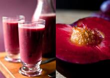 Close Up Of Plum, Red Grape An...