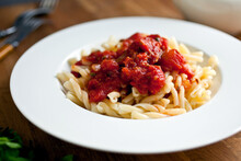 Pasta With Pungent Tomato Sauc...