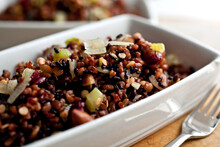 Close Up Of Red And Black Rice...
