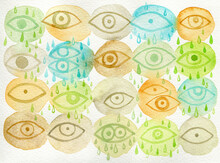 Big Brother Is Watching You Watercolor Art