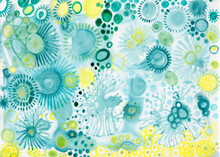 Blue And Yellow Watercolor Bac...
