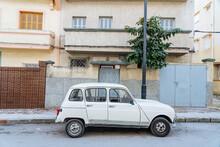 Vintage Car Parked On Street N...