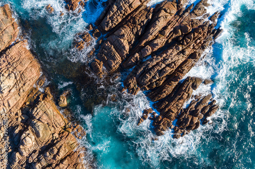 Fototapeta Stunning rocky coastline of the southwest of Western Australia at Canal Rocks Ya