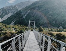 Bridge Walkway In New Zealand