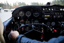 The Instrument Panel Of A Smal...